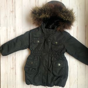 BabyGap Faux Fur Lined Winter Jacket Size 2T